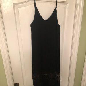 Black, crochet strappy dress
